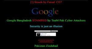 Pakistani hackers' take down google's Bangladesh domain