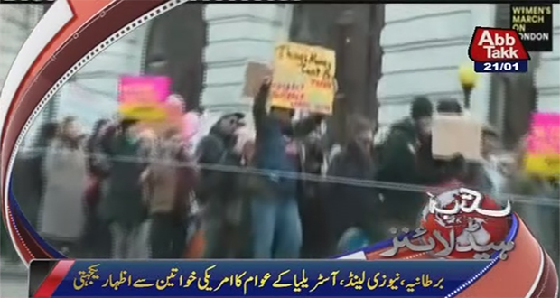 Worldwide women protest rallies in solidarity with Washington march
