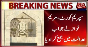 Maryam Nawaz submitted reply in Supreme Court
