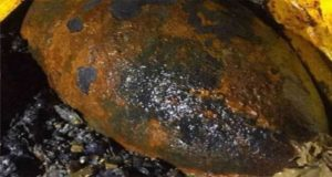 Unexploded bomb of WWII found in British harbor