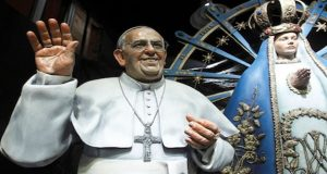 Pop Francis wax statue unveiled in Brazil