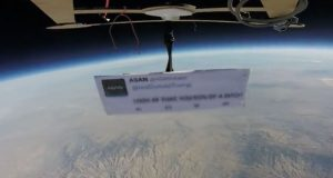 First protest in Space against Trump's Presidency