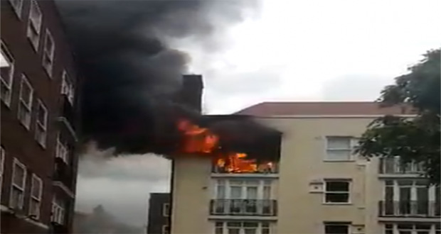 Another Building Catches Fire in London