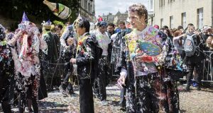 Annual 'Foam Fight' Held at Oxford University
