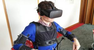 Scientists Prepare Smartjacket, VR Headset for Controlling Drone with Your Body