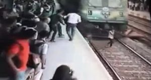 Girl Run Over by Train, Survives Miraculously