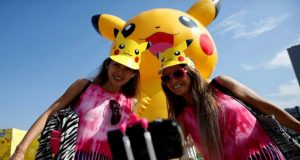 Pokemon Go fans join giant Pikachus at Yokohama festival