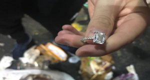 Sanitation Workers Help Recover Diamond Ring From Garbage
