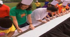 School Makes Record 504-Foot Sushi Roll