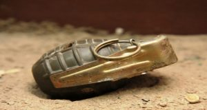 Hand Grenade Recovered from Nullah in PU