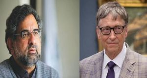 PM Abbasi Meets Bill Gates on Sidelines of UNGA