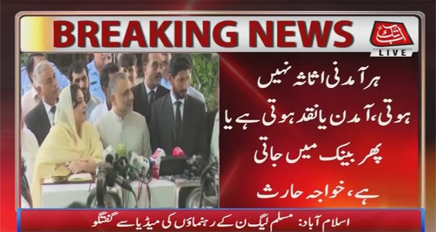 Islamabad: PMLN Leaders Talk to Media