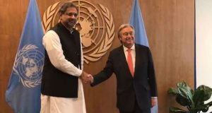 PM Meets UN SG, Hands Over Dossier on IoK Violations