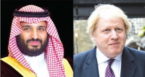 British FM Johnson Contacts Saudi Crown Prince on Telephone