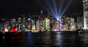 Spectacular 3-Night Light Show Witnessed in HK