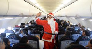 Santa Claus Visits PIA Flight