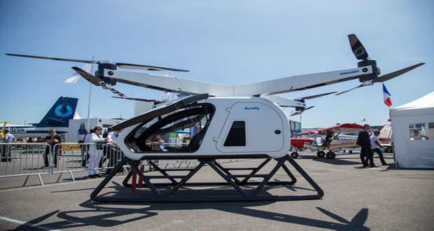 Passenger Drone Thwarted by Light Drizzle