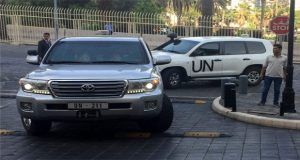 Shots Fired At UN Team In Syria