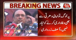 NS Ruled Colluding With Establishment for 30 Years: Zardari