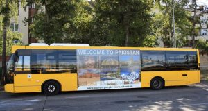 Pakistani Brand Buses Hit Berlin Roads on Independence Day