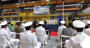 Steel Cutting Ceremony of Off-Shore Patrol Vessel for Pak Navy