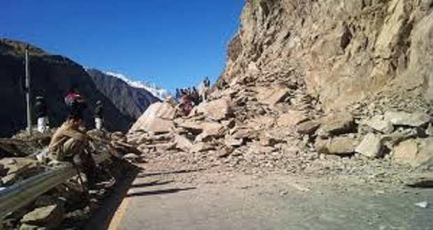 Traffic Suspended As Landslides Hit Karakorum Highway