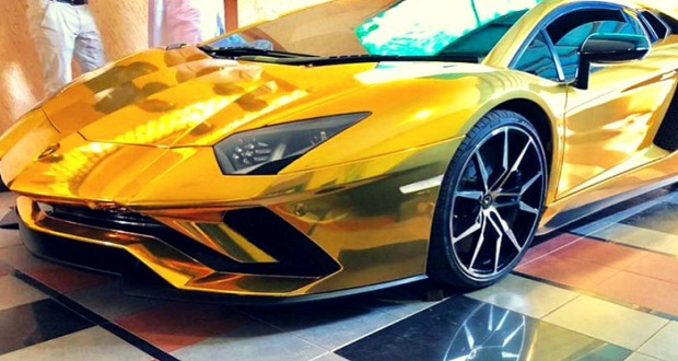Gold Foil Lamborghini Lands In Pakistan Abb Takk News