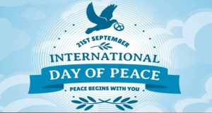 International Day of Peace Being Observed Today