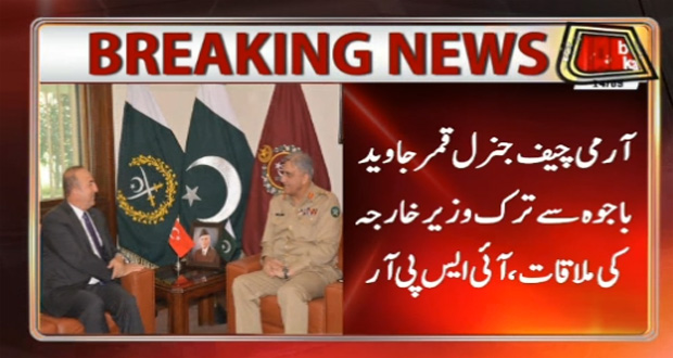 Army Chief, Turkish FM Discuss Regional Security, Bilateral Ties