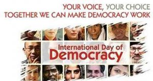 International Day of Democracy Being Observed Today