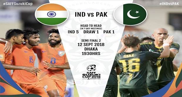 Pakistan To Take India In SAFF Championship Semi-final Today