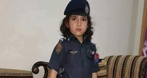 Photo of Martyred SP's Daughter in Uniform Goes Viral