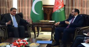 FM Qureshi, Afghan Counterpart Discuss Bilateral Issues